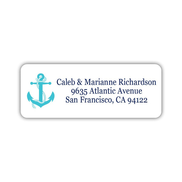 Nautical address labels - Turquoise - Dazzling Daisies