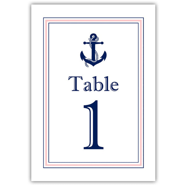 Nautical table numbers - 1-6 / Blush - Dazzling Daisies