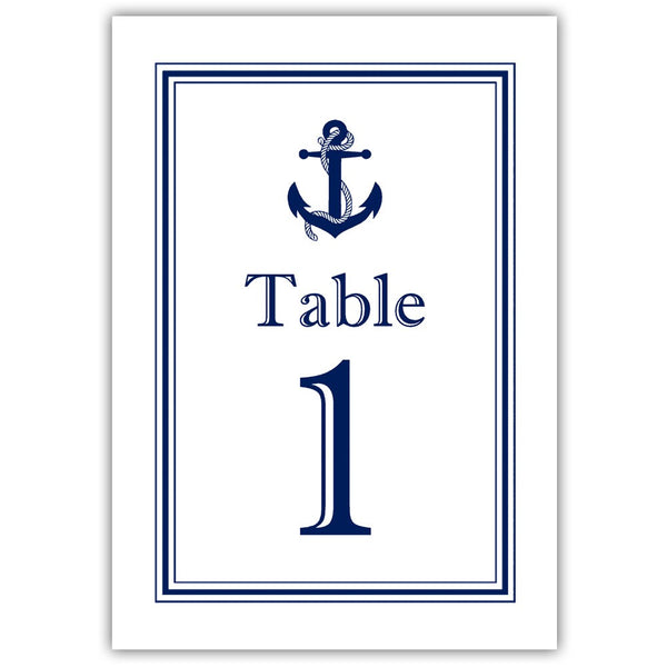 Nautical table numbers - 1-6 / Navy - Dazzling Daisies