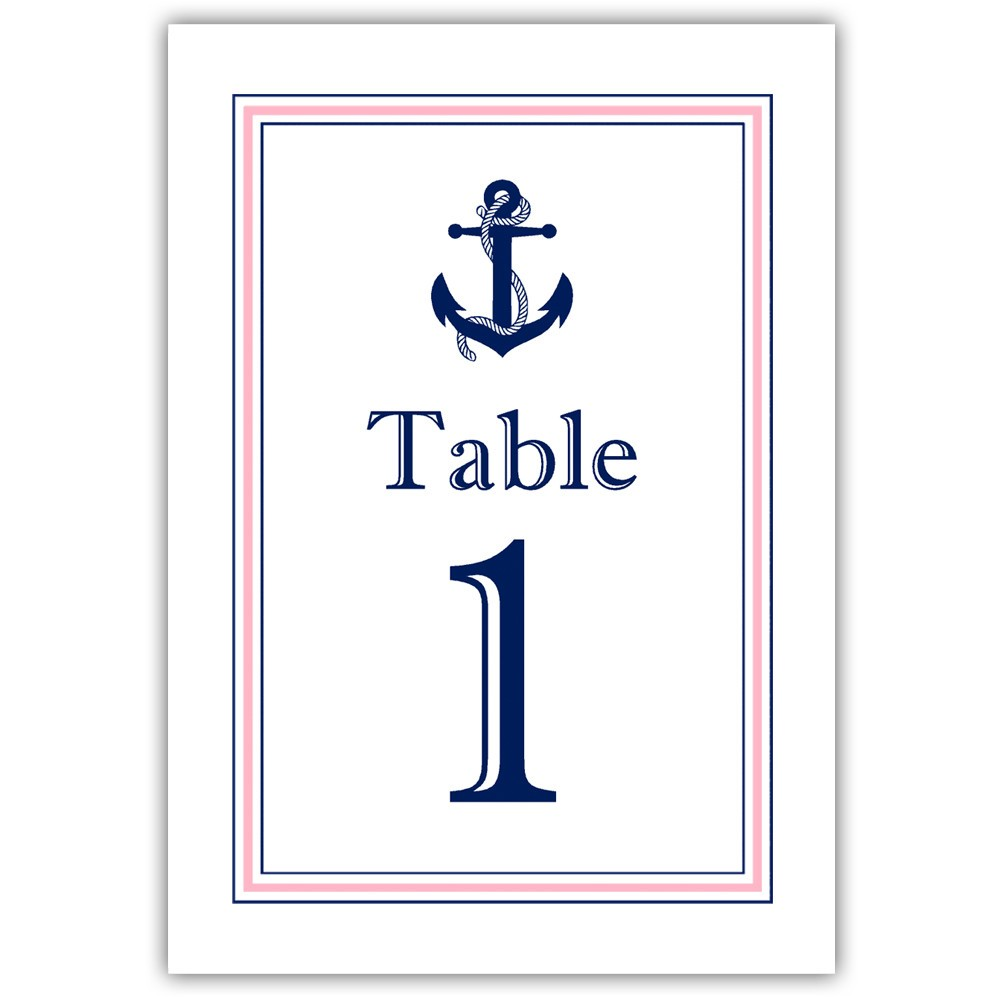 Nautical table numbers - 1-6 / Gold - Dazzling Daisies