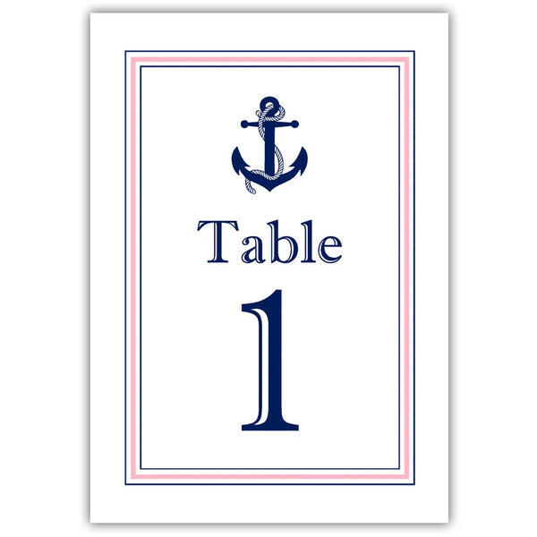 Nautical table numbers - 1-6 / Pink - Dazzling Daisies