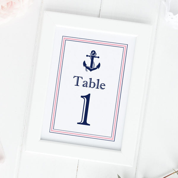 Nautical table numbers -  - Dazzling Daisies