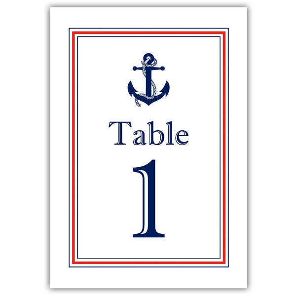 Nautical table numbers - 1-6 / Red - Dazzling Daisies