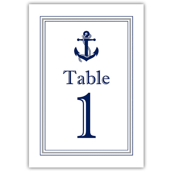 Nautical table numbers - 1-6 / Silver - Dazzling Daisies