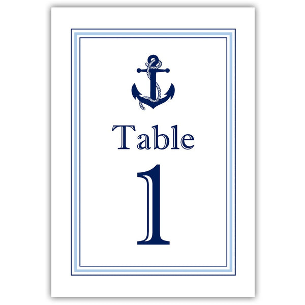 Nautical table numbers - 1-6 / Steel blue - Dazzling Daisies