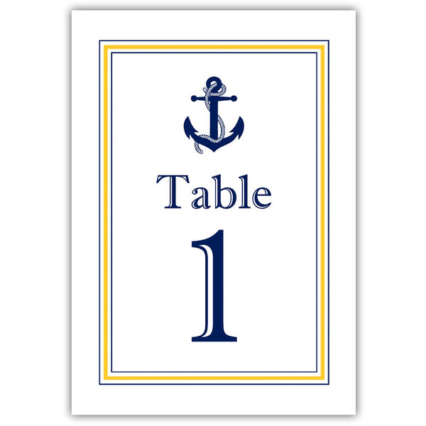 Nautical table numbers - 1-6 / Yellow - Dazzling Daisies