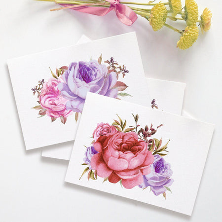 Watercolor note cards 'Bold Splash'