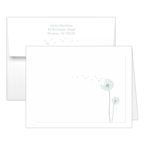 Note cards 'Dandelion Delight' - Sage - Dazzling Daisies