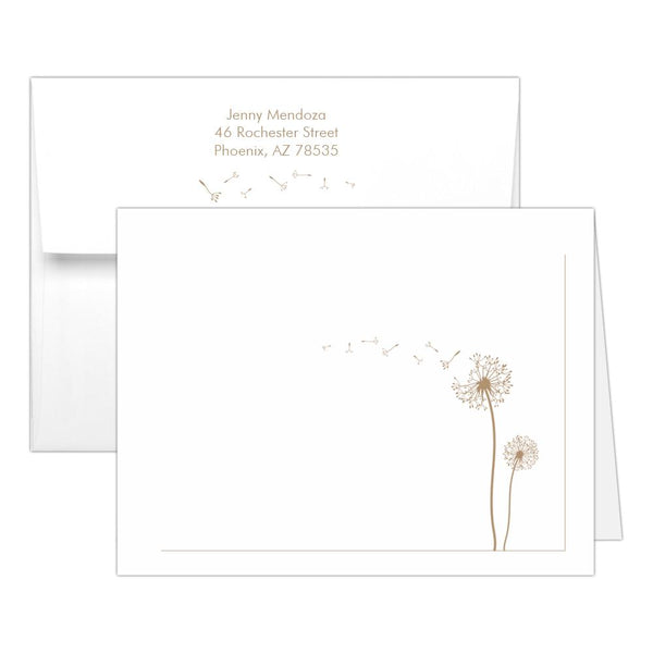 Note cards 'Dandelion Delight' - Sand - Dazzling Daisies