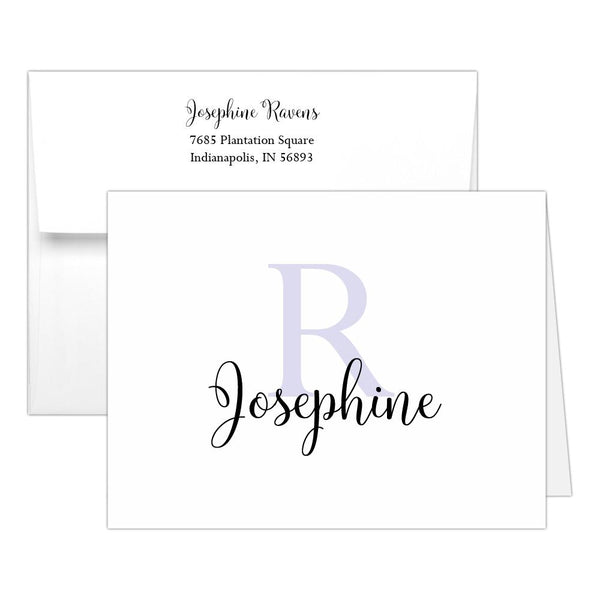 Personalized note cards 'Bold Whimsical' - Lavender - Dazzling Daisies