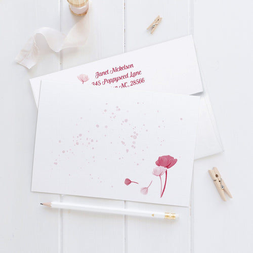 Note cards 'Perfect Poppy' -  - Dazzling Daisies