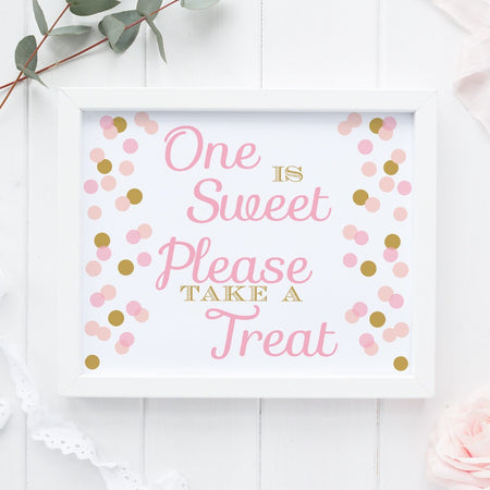 Wedding bathroom basket sign