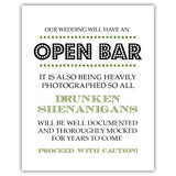 Open bar sign - 5x7