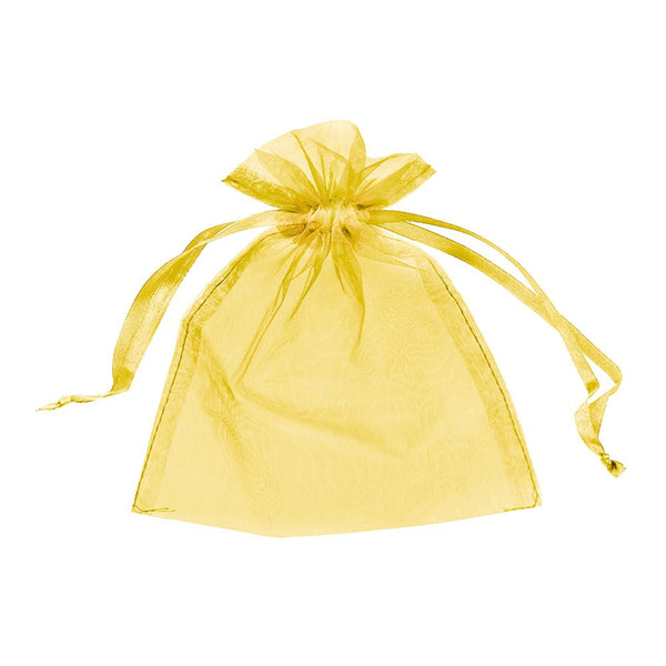 "Organza bags 3"" x 4"" - Gold - Dazzling Daisies"