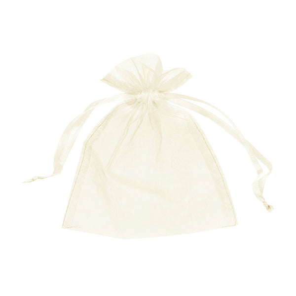 "Organza bags 3"" x 4"" - Ivory - Dazzling Daisies"