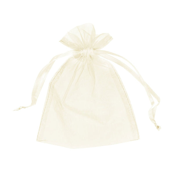 "Organza bags 4"" x 6"" - Ivory - Dazzling Daisies"