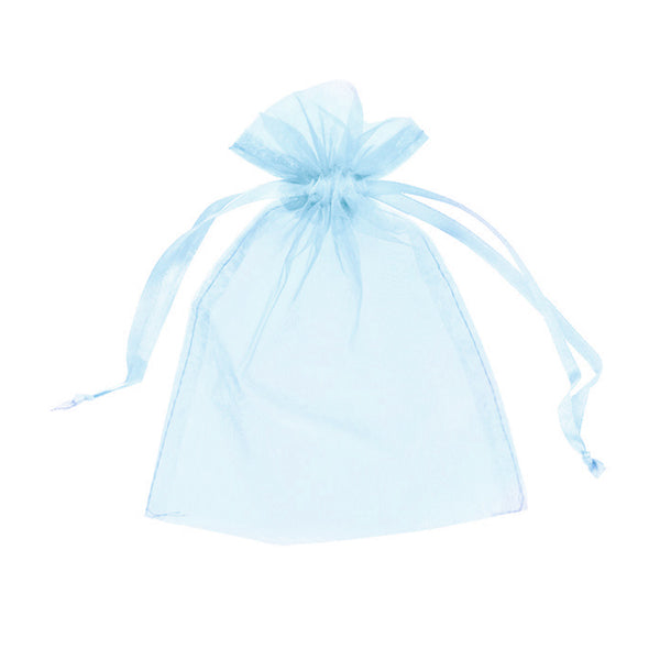 "Organza bags 4"" x 6"" - Baby blue - Dazzling Daisies"