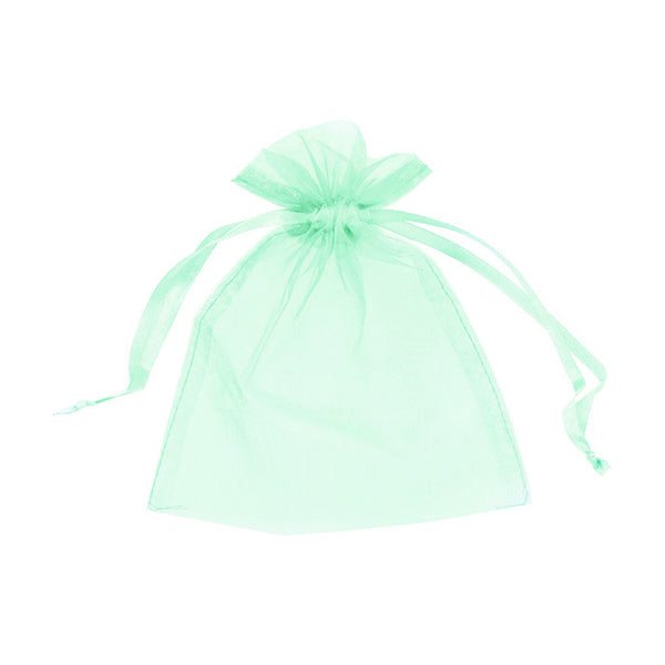 "Organza bags 3"" x 4"" - Light green - Dazzling Daisies"
