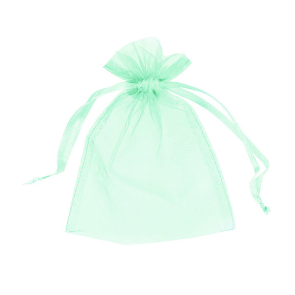 "Organza bags 4"" x 6"" - Light green - Dazzling Daisies"