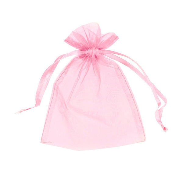 "Organza bags 4"" x 6"" - Pink - Dazzling Daisies"
