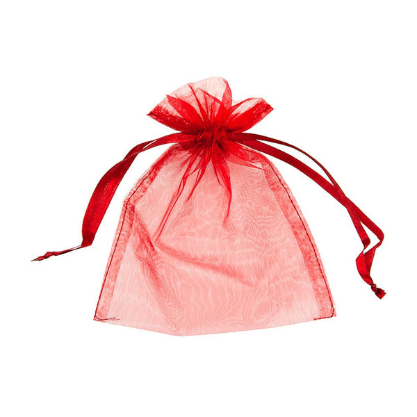 "Organza bags 3"" x 4"" - Red - Dazzling Daisies"