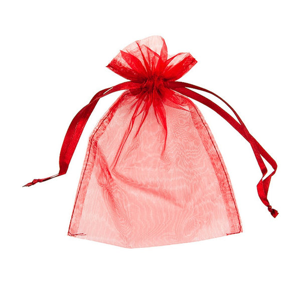 "Organza bags 4x6"" - Red - Dazzling Daisies"
