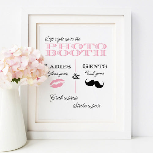 Photo booth sign -  - Dazzling Daisies