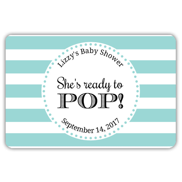 Ready to pop stickers 'Popping Stripes' - Aquamarine - Dazzling Daisies