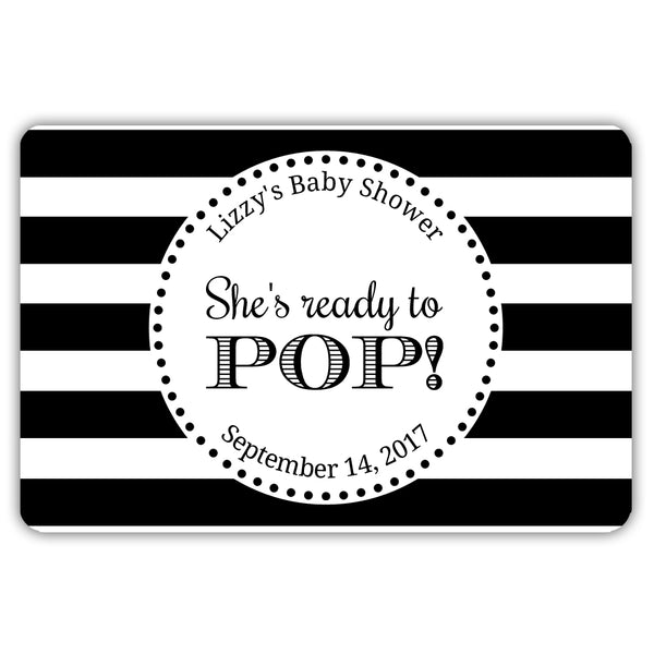 Ready to pop stickers 'Popping Stripes' - Black - Dazzling Daisies