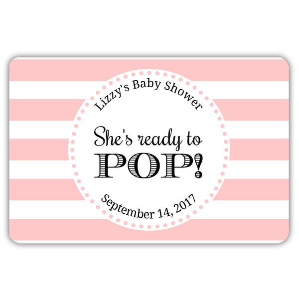 Ready to pop stickers 'Popping Stripes' - Blush - Dazzling Daisies