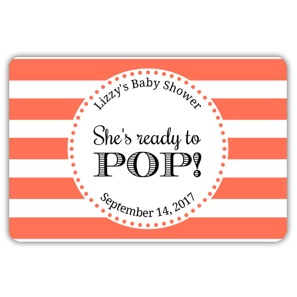 Ready to pop stickers 'Popping Stripes' - Coral - Dazzling Daisies
