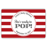 Ready to pop stickers 'Popping Stripes' - Indian red - Dazzling Daisies