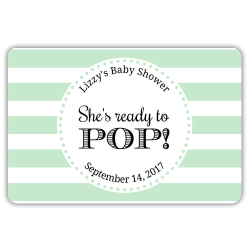 Ready to pop stickers 'Popping Stripes' - Mint - Dazzling Daisies