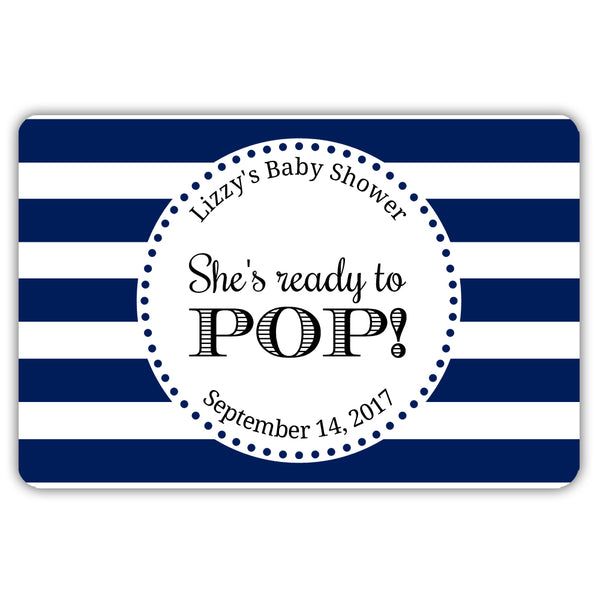 Ready to pop stickers 'Popping Stripes' - Navy - Dazzling Daisies