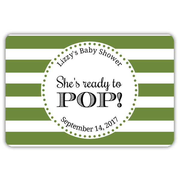 Ready to pop stickers 'Popping Stripes' - Olive - Dazzling Daisies