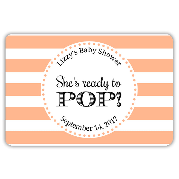 Ready to pop stickers 'Popping Stripes' - Peach - Dazzling Daisies