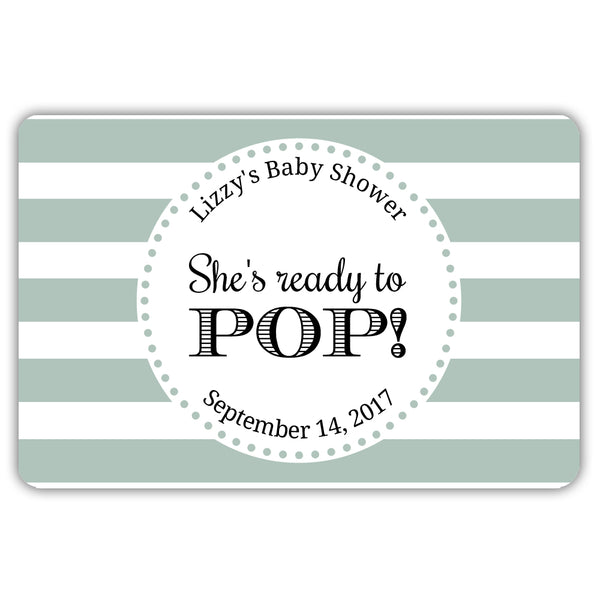 Ready to pop stickers 'Popping Stripes' - Sage - Dazzling Daisies