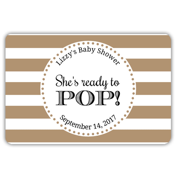 Ready to pop stickers 'Popping Stripes' - Sand - Dazzling Daisies