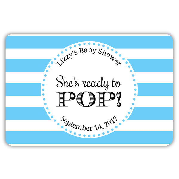 Ready to pop stickers 'Popping Stripes' - Sky blue - Dazzling Daisies