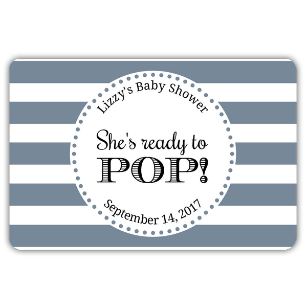 Ready to pop stickers 'Popping Stripes' - Slate - Dazzling Daisies
