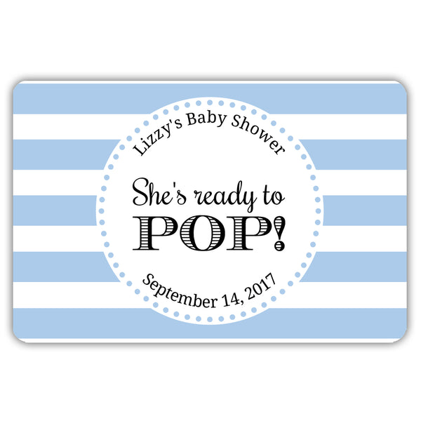 Ready to pop stickers 'Popping Stripes' - Steel blue - Dazzling Daisies
