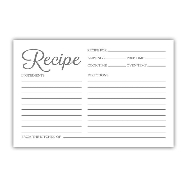 Recipe cards 'Basic Elegance' - Black - Dazzling Daisies