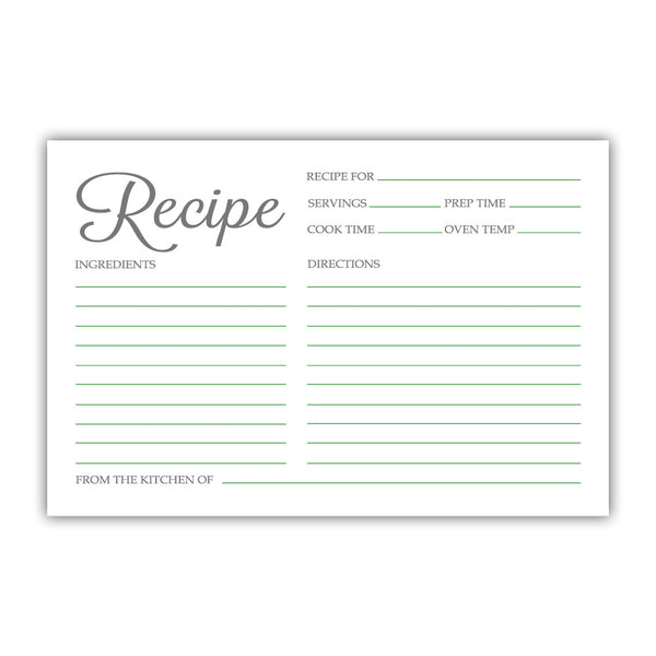 Recipe cards 'Basic Elegance' - Green - Dazzling Daisies