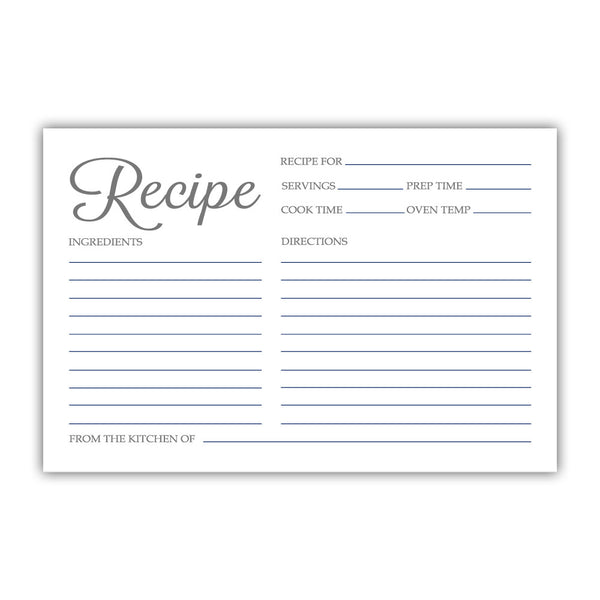 Recipe cards 'Basic Elegance' - Navy - Dazzling Daisies