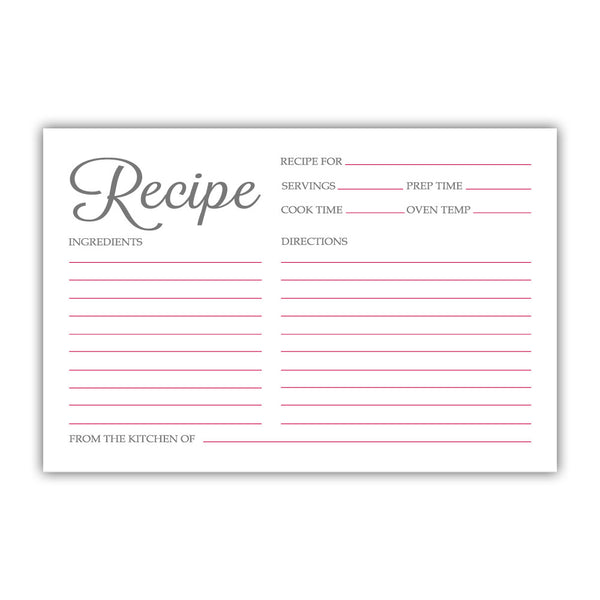Recipe cards 'Basic Elegance' - Raspberry - Dazzling Daisies