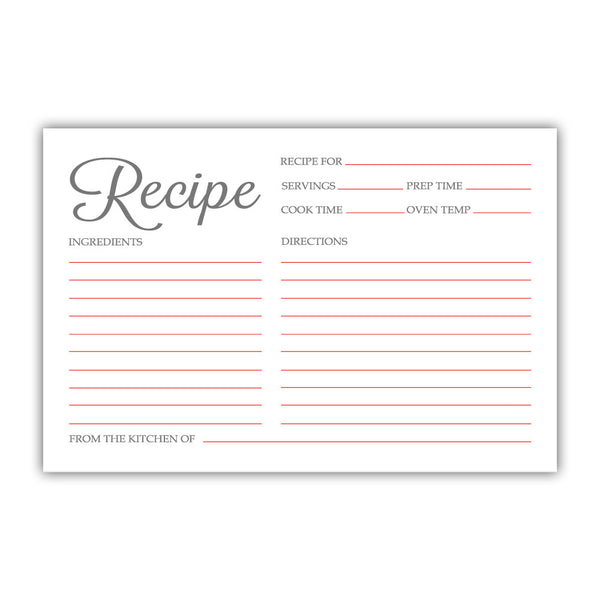 Recipe cards 'Basic Elegance' - Red - Dazzling Daisies