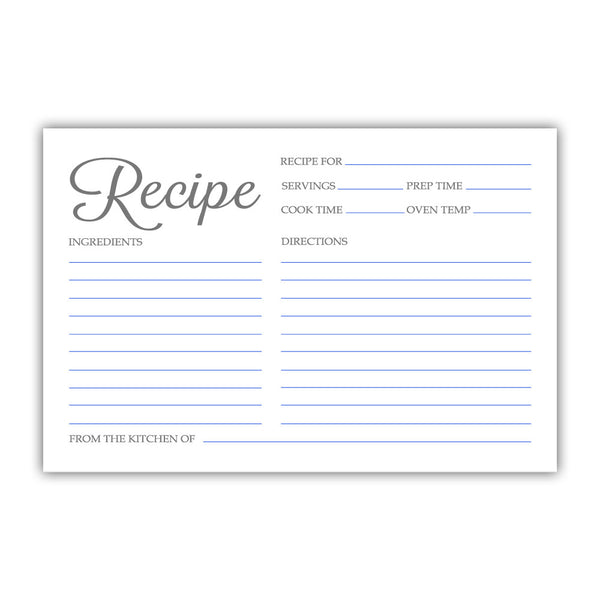 Recipe cards 'Basic Elegance' - Royal blue - Dazzling Daisies