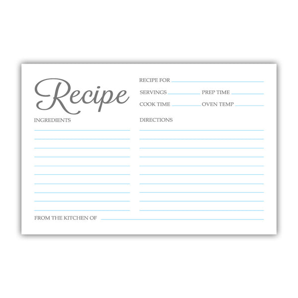 Recipe cards 'Basic Elegance' - Sky blue - Dazzling Daisies