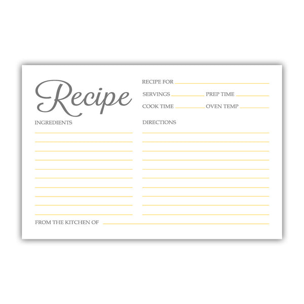Recipe cards 'Basic Elegance' - Yellow - Dazzling Daisies