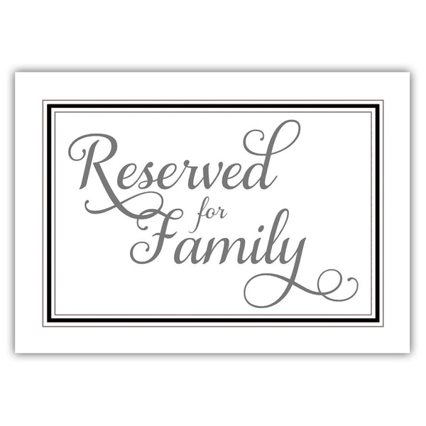 Reserved for family sign 'Elevated Elegance' - Black - Dazzling Daisies